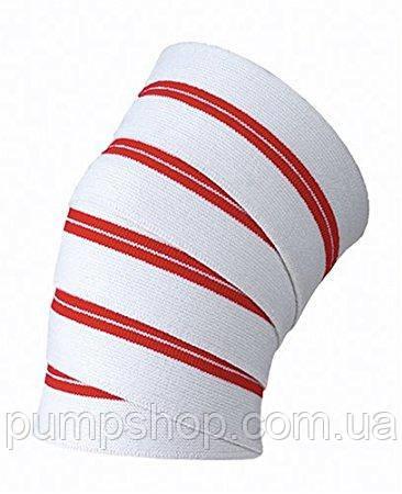 Бинты коленные Flexsports красно-белые - 1 пара (2 метра)