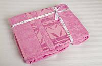 Бамбуковая простынь 200х220 Cestepe Bamboo   F.Agak розовая