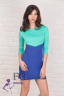 Платье прямое трикотажное 073