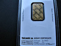 ЗОЛОТО 999.9 пробы Банковский слиток CREDIT SUISSE+сертификат