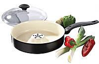 Керамическая Сковорода, DRY COOKER , керамическая сковородка, Драй кукер