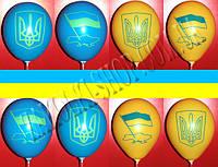 Латексные воздушные шары Gemar Италия, расцветка: Пастель желтый/синий, Патриот Герб Флаг, печать шелкография