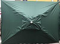 Зонт для сада, пляжа круглый 2x3 м с клапаном, с защитными углами, с серебряным напылением цвета в асортименте