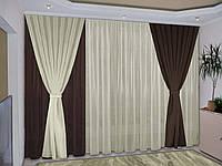 Готовый комплект штор для зала модный 77