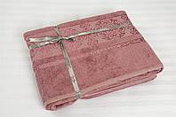 Бамбуковая простынь 200х220 Cestepe Bamboo Premium  темно-розовая