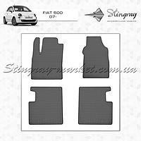 Комплект резиновых ковриков Stingray для автомобиля  Fiat 500 2007-     4шт.