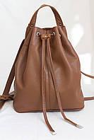 Женский модный рюкзак коричневый