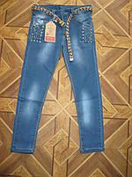 Детские джинсы для девочки + красивый ремень 8 -10 лет Турция
