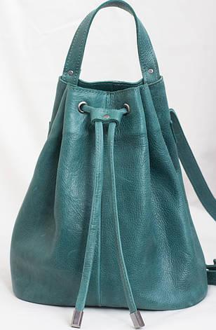 Женский рюкзак изумруд зелёный, фото 2