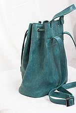 Женский рюкзак изумруд зелёный, фото 3