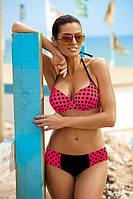 Привлекательный купальник женский в горошек Juliana TM Marko (Польша) Коралл