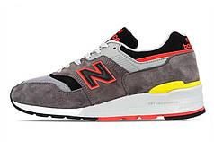 Мужские кроссовки New Balance 997 серые топ реплика