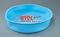 Силиконовая форма для выпечки пирога, торта 26х6см круглая голубого цвета Empire