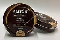 Salton Professional Крем для обуви из гладкой кожи шайба ЧЕРНЫЙ 70 мл.
