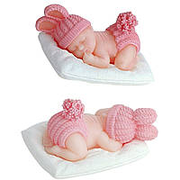 Молд Младенец на подушке 3D.