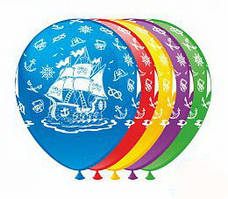 """Воздушные шары """"Пиратский корабль"""" 12""""(30 см) пастель ассорти В упак: 100шт ТМ Арт «SHOW»"""