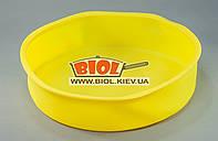 Силиконовая форма для выпечки пирога, торта 26х6см круглая желтого цвета Empire EM-9830-4