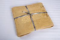 Бамбуковая махровая простынь 200х220 Cestepe Bamboo  Cicek голд