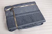 Бамбуковая махровая простынь 200х220 Cestepe Bamboo Premium графит