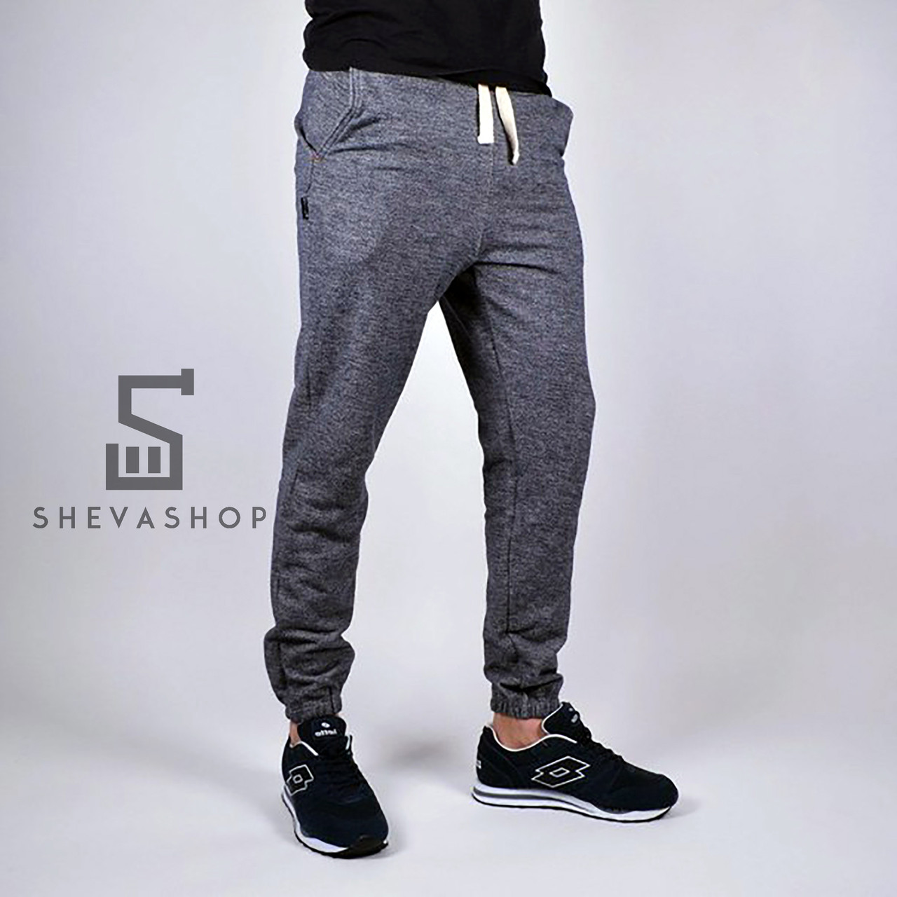 44e724cb6535 Спортивные штаны мужские RaD Pou трехнитка, blkMarl - купить по ...