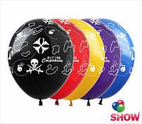 """Воздушные шары """"Остров сокровищ"""" 12""""(30 см) пастель ассорти В упак: 100шт ТМ Арт «SHOW»"""