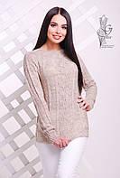 Вязаные женские весенние свитера Мрия-4 из шерсти с акрилом