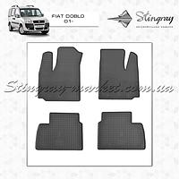 Комплект резиновых ковриков Stingray для автомобиля  Fiat Doblo 2001-2010     4шт.