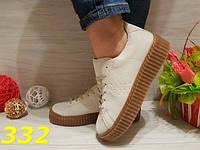 Криперы рианна светло-серые, кеды, кроссовки, мокасины, женская обувь, фото 1