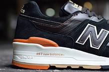 Мужские кроссовки New Balance 997 Authors Collection черные топ реплика, фото 3