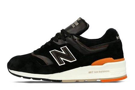 Мужские кроссовки New Balance 997 Authors Collection черные топ реплика, фото 2