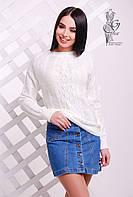 Вязаные женские весенние свитера Мрия-5 из шерсти с акрилом