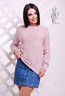 Вязаные женские весенние свитера Мрия-6 из шерсти с акрилом