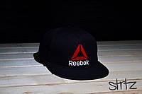 Рэперская кепка черная снепбек рибок,Reebok Crossfit Snapback Cap