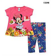 Летний костюм Minnie Mouse для девочки.  86, 92 см, фото 1