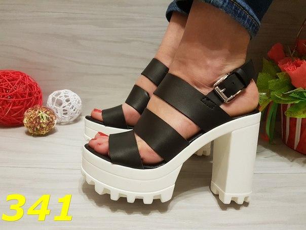 274ed7d1a Босоножки трактора черные с белой подошвой, балетки, женская обувь -  Интернет-магазин