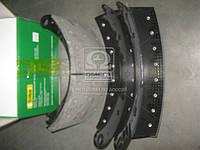 Колодка тормозной в сборе КАМАЗ ЕВРО (2- штуки ) (Производство Трибо) 6520-3501090