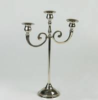 Подсвечник на 3 свечи (37 см) бронза+никель