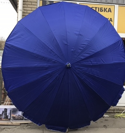 Зонт для сада, пляжа круглый 3,5 м (16 спиц) с серебряным напылением цвета в ассортименте, фото 1
