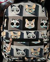Рюкзак для подростка с принтом кошки