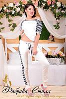 Женский легкий спортивный костюм с коротким рукавом