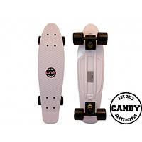 """Скейт крузер Candy 22""""  White/Black"""