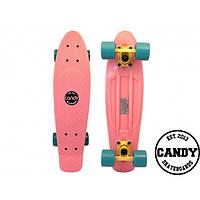 """Скейт крузер Candy 22""""  Pastel Pink"""