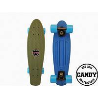 "Скейт крузер Candy 22""  Haki/Blue"