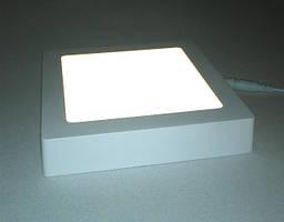 Светодиодный светильник Ecostrum 18W 4000К накладной квадрат