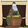 Красивый комплект штор на окна в интернете