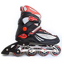 Ролики Maraton M-13 (черные, серые), роликовые коньки 4-х колесные, ролики для взрослых, ролики мужские