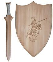 Набор оружия Рыцарь (щит 35 см., меч 45 см.) //(172067)