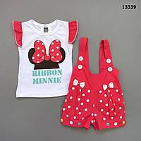 Летний костюм Minnie Mouse для девочки. 56 см