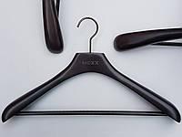Плечики вешалки тремпеля  Mainetti Mexx широкий черно-коричневого цвета, длина 42 см