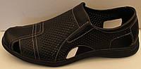 Летние сандалии, туфли кожаные перфорация, кожаная обувь мужская от производителя модель ВИ110С